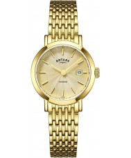 Rotary LB05303-03 Ladies uurwerken Windsor vergulde horloge