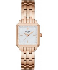 Kate Spade New York KSW1132 Ladies Washington vierkant rose goud vergulde armband horloge