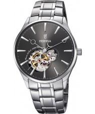 Festina F6847-2 Mens automatische zilveren stalen armband horloge
