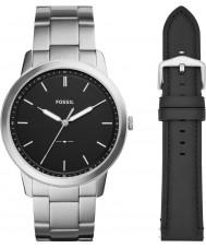 Fossil FS5451SET Menselijke minimalistische horlogegiftset