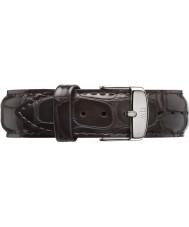 Daniel Wellington DW00200025 Heren Classic york 40mm zilver donkerbruine lederen reserveonderdelen riem