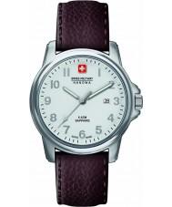 Swiss Military 6-4231-04-001 Mens Zwitserse soldaat prime bruine lederen band horloge