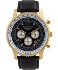 Krug-Baumen 600206DS Mens luchtreiziger diamanten horloge