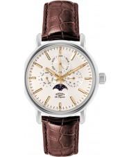Rotary GS90135-32 Mens les originales Greenwich staal bruine horloge