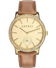 Esprit ES108112002 Ladies tp10811 bruine lederen band horloge