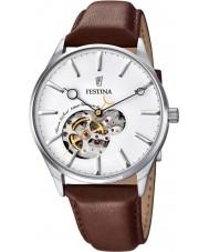 Festina F6846-1 Mens automatische bruine lederen band horloge