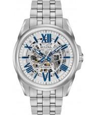 Bulova 96A187 Mens automatische zilveren stalen armband horloge