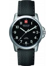 Swiss Military 6-4231-04-007 Mens Zwitserse soldaat prime zwart lederen band horloge