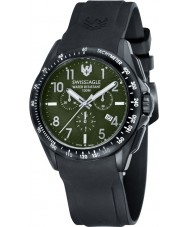 Swiss Eagle SE-9061-03 Mens veld tactische zwarte chronograaf