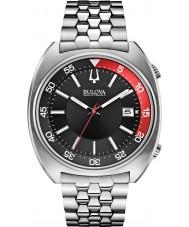 Bulova 96B210 Mens ba ii zilveren stalen armband horloge