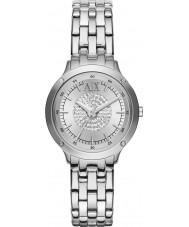 Armani Exchange AX5415 Ladies stenen set zilveren armband jurk horloge