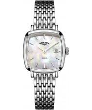 Rotary LB05305-07 Dames Uurwerken windsor zilver toon stalen horloge