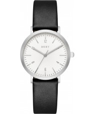 DKNY NY2506 Ladies Minetta zwart lederen band horloge