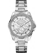Guess W0286L1 Ladies onverschrokken 2 zilveren stalen armband horloge