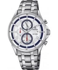 Festina F6853-1 Mens zilveren chronograafhorloge