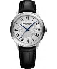 Raymond Weil 2237-STC-00659 Mens maestro zwart lederen band horloge