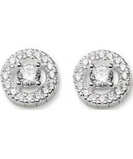 Thomas Sabo H1814-051-14 Dames licht van luna zirconia effenen zilveren oorbellen