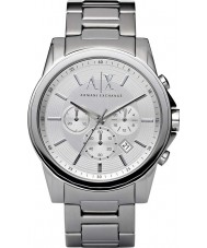 Armani Exchange AX2058 Mannen zilver staal chronograaf jurk horloge