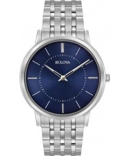 Bulova 96A188 Mens ultraslanke zilveren stalen armband horloge