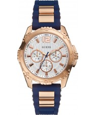 Guess W0325L8 Ladies onverschrokken 2 two tone gemengde band horloge