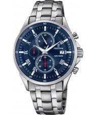 Festina F6853-3 Mens zilveren chronograafhorloge