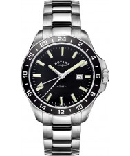Rotary GB05017-04 Mens uurwerken havana zilver toon stalen horloge