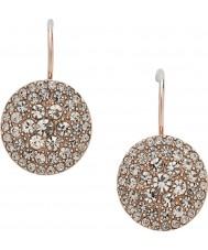 Fossil JF00135791 Ladies vintage glitter rose goud staal oorbel