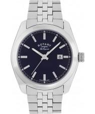 Rotary GB90110-05 Mens les originales Lausanne zilveren stalen armband horloge