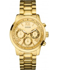Guess W0330L1 Ladies zonsopgang vergulde armband horloge
