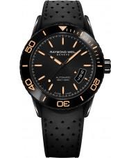 Raymond Weil 2760-SB2-20001 Mens freelancer duiker zwarte rubberen band horloge