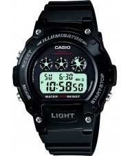 Casio W-214HC-1AVEF Collectie zwarte chronograaf