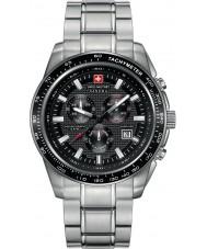 Swiss Military 6-5225-04-007 Mens kruisvaarder zwart zilver chronograafhorloge