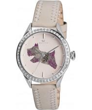 Radley RY2083 Dames crème lederen band horloge met stenen