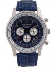 Krug-Baumen 600507DS Mens luchtreiziger diamanten horloge