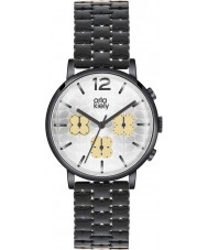 Orla Kiely OK4002 Ladies Frankie chronograaf zwart ip horloge