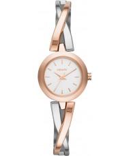 DKNY NY2172 Ladies zebrapad rose goud zilveren horloge