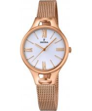 Festina F16952-1 Ladies Mademoiselle rose goud vergulde armband horloge