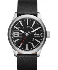Diesel DZ1766 Mens rasp zwart lederen band horloge
