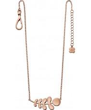 Orla Kiely N4014 Ladies maatje 18ct rose gouden stam patroon ketting