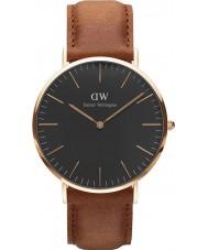 Daniel Wellington DW00100126 Klassiek zwart Durham 40mm horloge