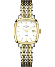 Rotary LB05306-01 Ladies uurwerken Windsor two tone vergulde horloge