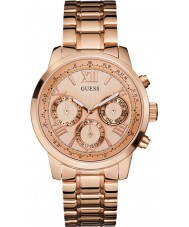 Guess W0330L2 Ladies zonsopgang rose goud vergulde armband horloge