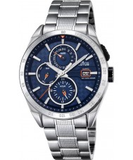 Lotus L18244-5 Mens zilveren multifunctioneel horloge