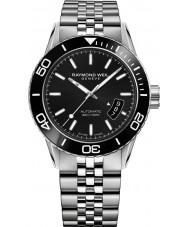 Raymond Weil 2760-ST1-20001 Mens freelancer duiker zilveren stalen armband horloge