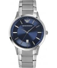 Emporio Armani AR2477 Heren klassieke blauwe zilveren horloge