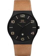 Danish Design Q27Q1106 Mens bruin lederen band horloge