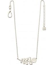 Orla Kiely N4015 Ladies maatje zilveren stam patroon ketting