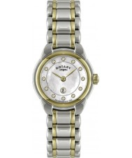 Rotary LB02602-41L Ladies uurwerken two tone horloge
