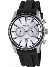 Festina F16874-F Mens Tour of Britain 2015 zilver zwart chronograafhorloge