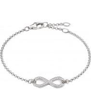 Thomas Sabo A1310-051-14 Dames eeuwigheid van liefde oneindigheid zilveren armband